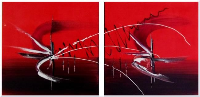 Painting,  40 x 80 cm ©2012 by DALA -  Painting, abstrait