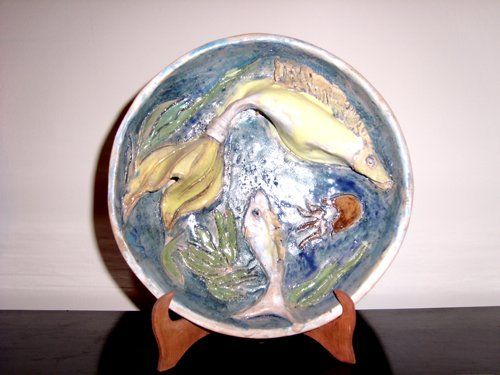 """Sculpture titled """"fishes"""" by Luse Yeremyan, Original Art,"""