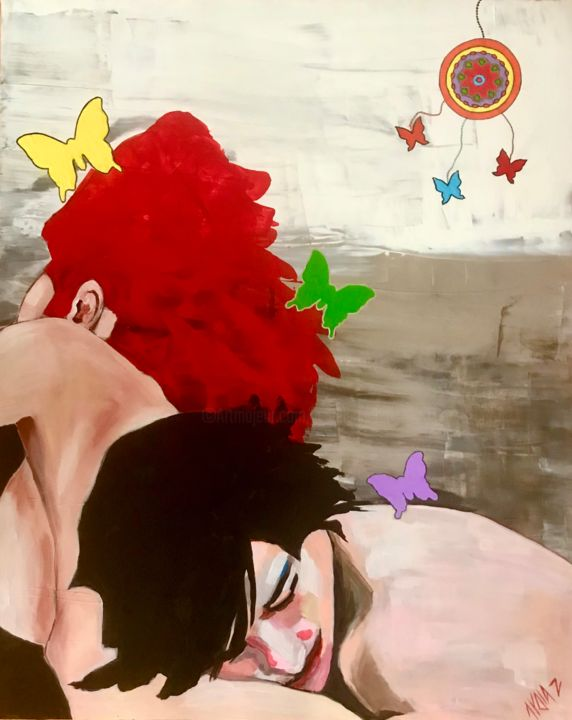 """Painting titled """"Trapped Dreams"""" by Lydia Zioga, Original Art, Acrylic"""
