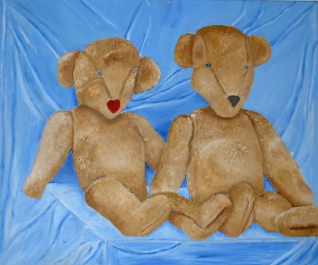 """Painting titled """"teddy"""" by Lyhne, Original Art,"""