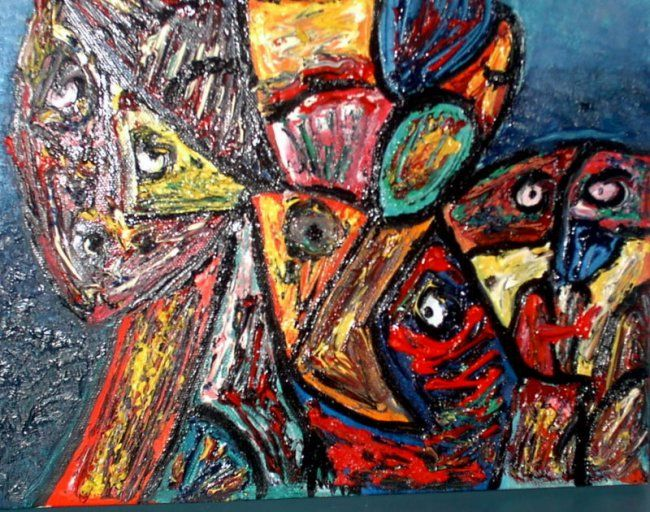 """Painting titled """"killers im"""" by Lyhne, Original Art, Oil"""