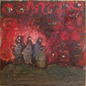 """Painting titled """"demons"""" by Lyhne, Original Art, Other"""