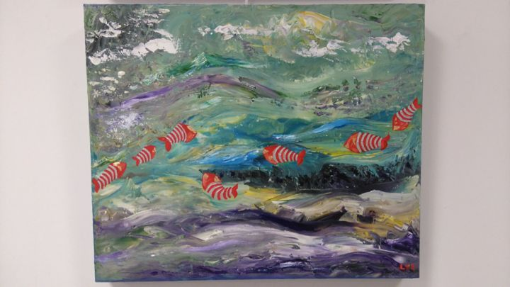Poissons rouges - ©  Poissons mer, marine Online Artworks