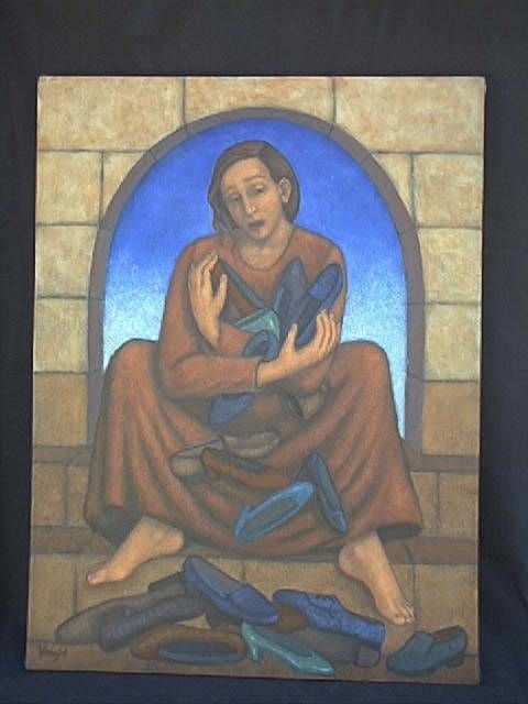 """Painting titled """"The Weight of Her A…"""" by Lynette Vought, Original Art,"""