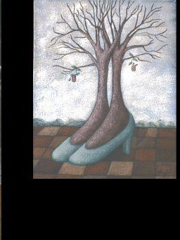 """Painting titled """"The Ruby Tree"""" by Lynette Vought, Original Art,"""