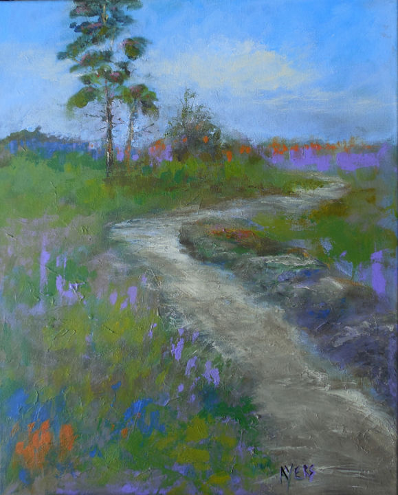 """Painting titled """"Landscape #30"""" by Lynne Ayers, Original Art, Acrylic"""