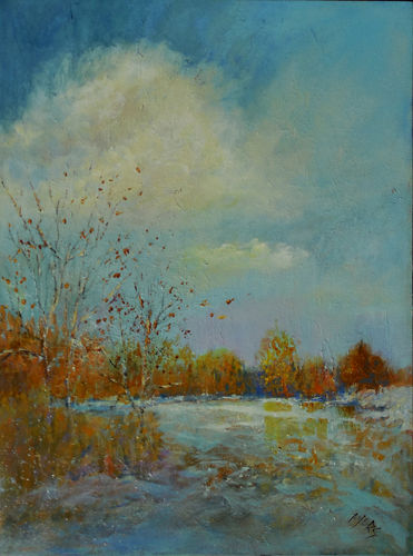 """Painting titled """"Landscape #47"""" by Lynne Ayers, Original Art, Acrylic"""