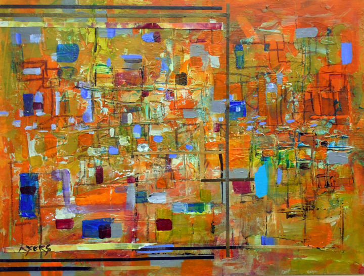 """Painting titled """"In and Out of the B…"""" by Lynne Ayers, Original Art, Acrylic"""