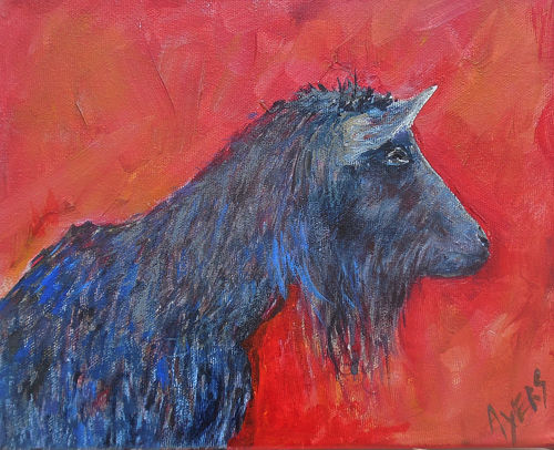 """Painting titled """"Goat"""" by Lynne Ayers, Original Art, Acrylic"""