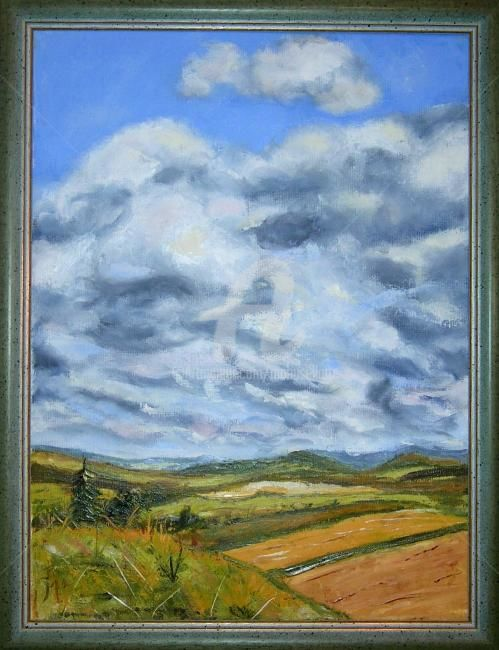 Ciel d'orage (couteau) - Painting,  40x50 cm ©2011 by Busellato MA -