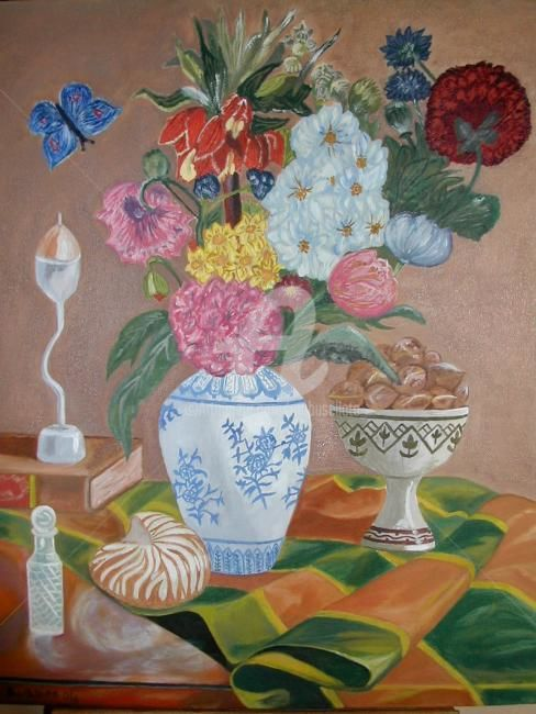 Nature morte - Painting,  30x40 cm ©2011 by Busellato MA -