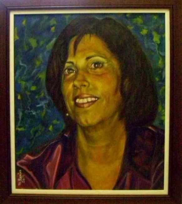 Portrait of Susana - 1 - Painting,  50x60 cm ©2009 by Machado dos Santos -                            Portraiture, Portrait