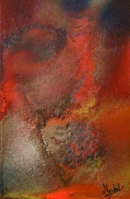 Volcano - Painting,  18x12 cm ©2008 by Laurence Machils -