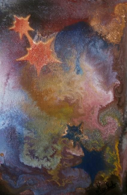 Féerie - Painting,  18x12 cm ©2008 by Laurence Machils -