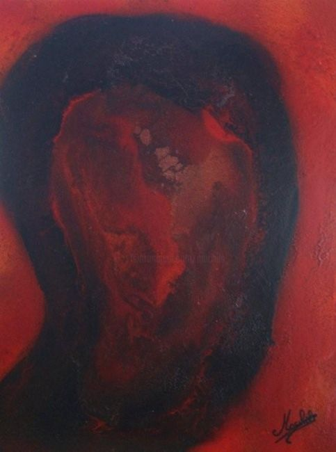 Spectre - Painting,  11.8x9.1 in, ©2008 by Laurence Machils -