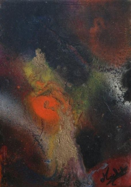 Stranger - Painting,  5.9x3.9 in, ©2008 by Laurence Machils -