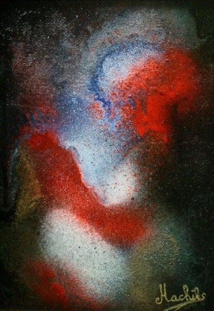 Vartation - Painting,  7.1x4.7 in, ©2008 by Laurence Machils -