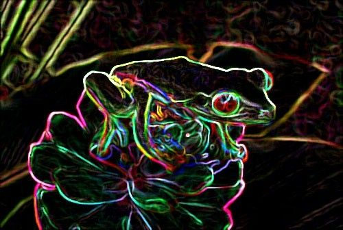 Grenouille - Painting, ©2008 by Laurence Machils -
