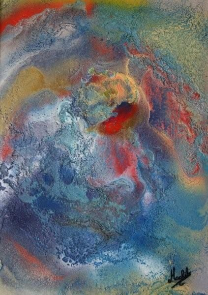 Passionata - Painting,  11.8x9.1 in, ©2008 by Laurence Machils -