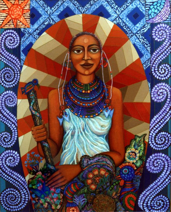 """Painting titled """"Mother Earth"""" by Madalena Lobao-Tello, Original Art, Acrylic"""
