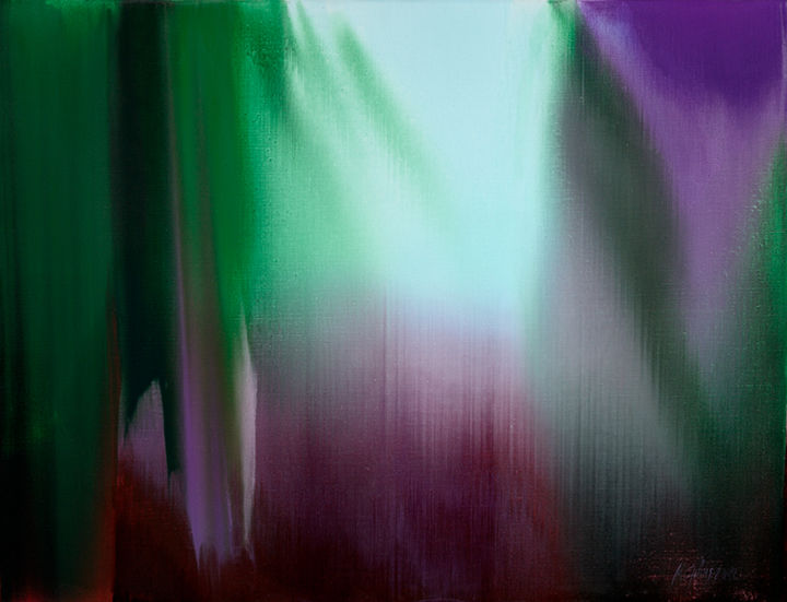 """Painting titled """"Violet Forest. 100x…"""" by Madara Gulbis, Original Art, Oil"""