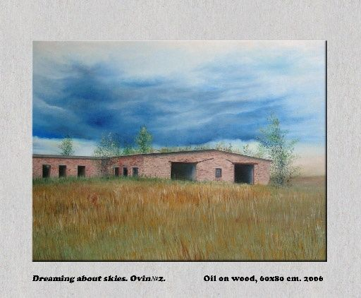 """Painting titled """"Dreaming about skie…"""" by Maellon, Original Art, Oil"""