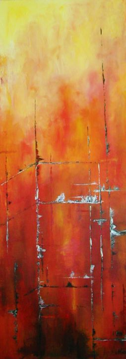 """Painting titled """"Usine"""" by Mae, Original Art,"""