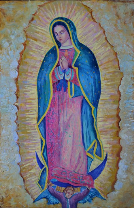 Virgen de Guadalupe Our Lady Virgin Mary Painting (Magdalena Walulik)