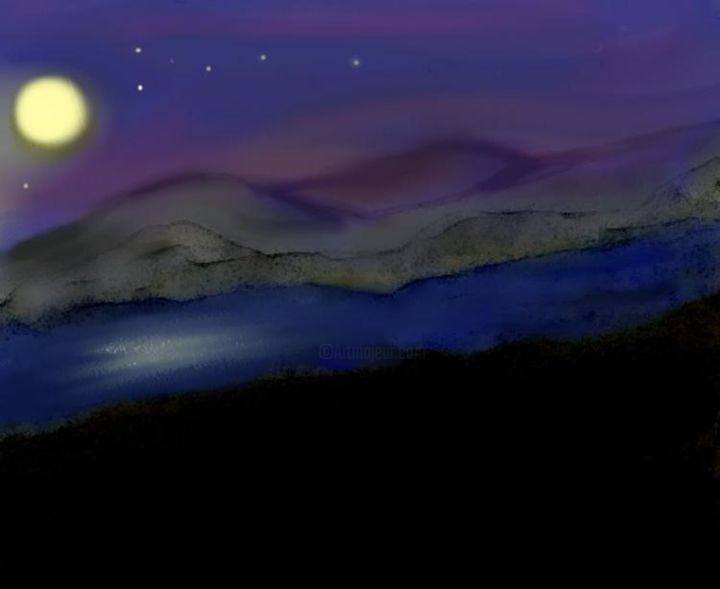 moon over the Loch - Digital Arts, ©2005 by Maggie Barra -