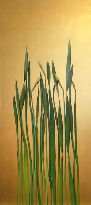"""Painting titled """"Narcissus"""" by Rita Magos, Original Art, Oil"""