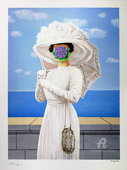 La Grande Guerre - Printmaking,  30.7x22.8 in, ©2004 by René Magritte -                                                                                                                          Surrealism, surrealism-627