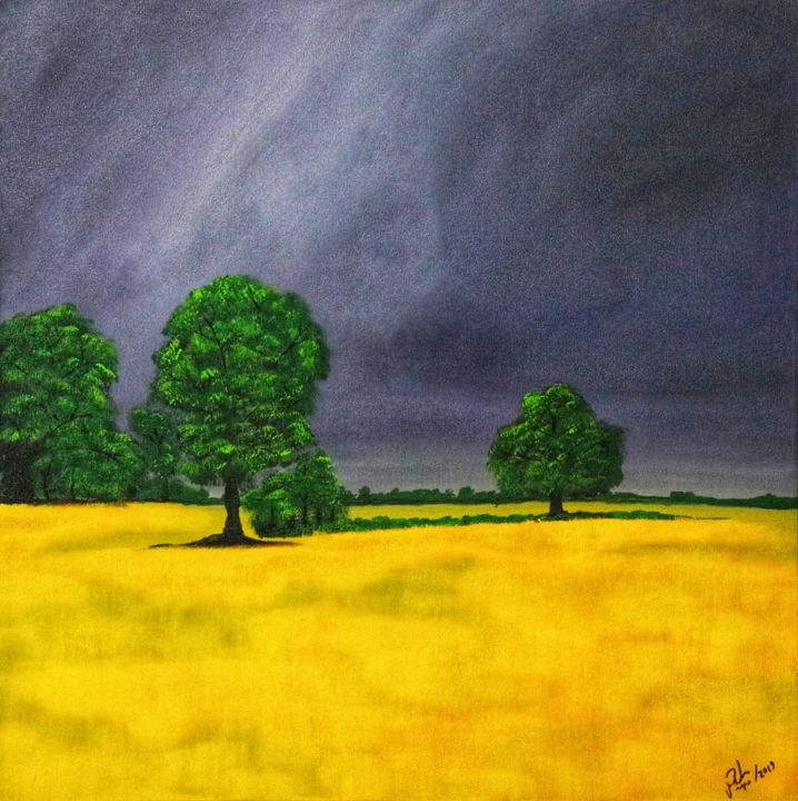 Moment before the Storm.jpeg - © 2019 Storm, Yellow, tree, Dark Online Artworks