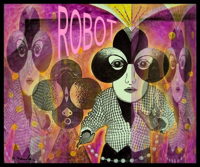 Robot - Mixed Media,  42x48 cm ©2006 by Mahirwan Mamtani -