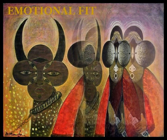 Emotional Fit - Painting,  16.5x18.9 in, ©2006 by Mahirwan Mamtani -
