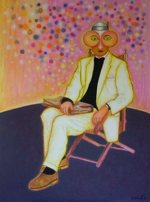 Scientist - Painting,  150x110 cm ©2001 by Mahirwan Mamtani -