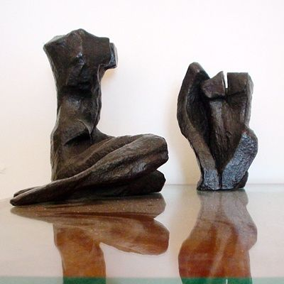 """Sculpture titled """"TwiSTED PaiR"""" by Majd, Original Art, Casting"""