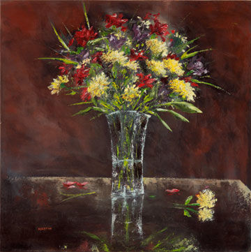"""Painting titled """"Reflections"""" by Martin, Original Art, Oil"""