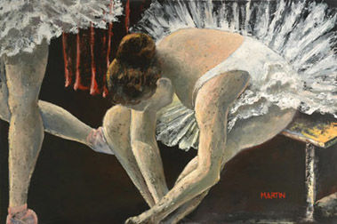 """Painting titled """"Preparing for the D…"""" by Martin, Original Art, Oil"""