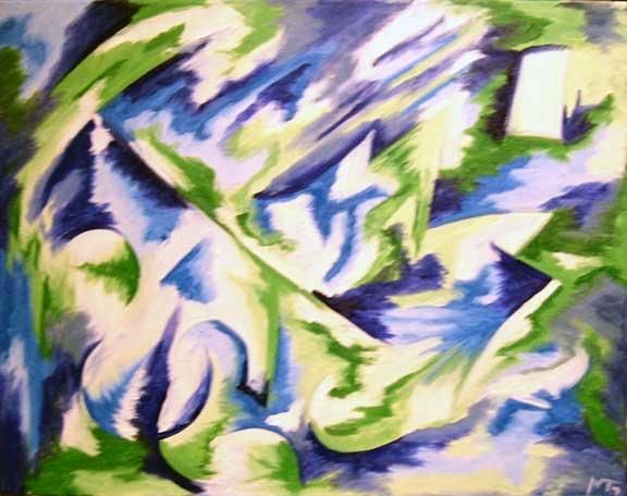 """Painting titled """"Unnamed"""" by Malcolm Gibson, Original Art,"""