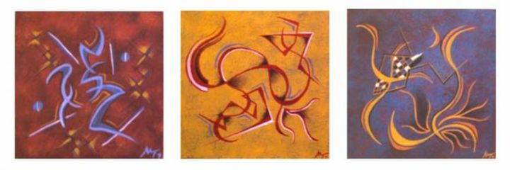 """Painting titled """"TrioAM.jpg"""" by Malcolm Gibson, Original Art,"""
