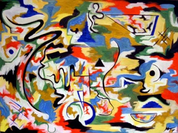 """Painting titled """"The Prediction"""" by Malcolm Gibson, Original Art,"""