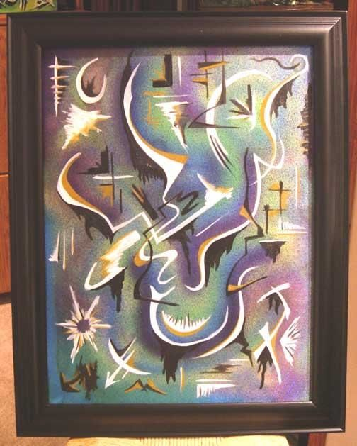 """Painting titled """"The Eternal Thought"""" by Malcolm Gibson, Original Art,"""