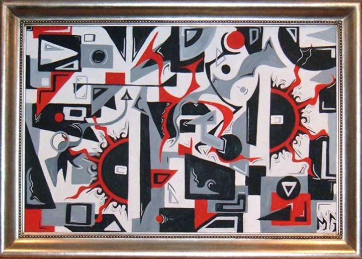 """Painting titled """"Reset"""" by Malcolm Gibson, Original Art,"""
