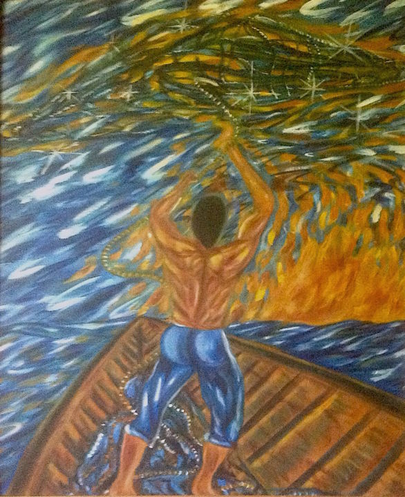 Fisherman Painting Painting by Male Beauty Forum Lifestyle | Artmajeur