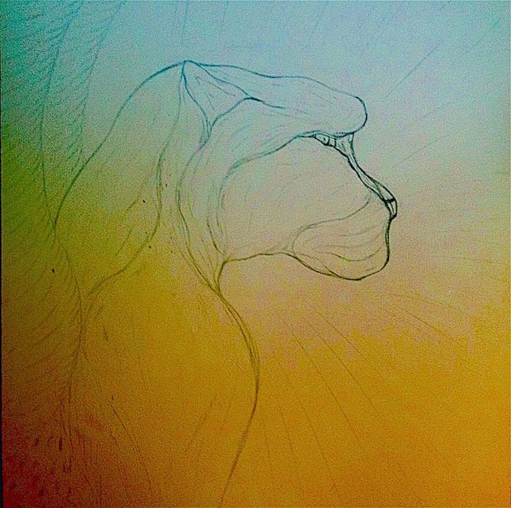 Cheetah Animal Totem Spirit - Drawing,  12x21x0.1 in, ©1994 by Male Beauty Forum Lifestyle -                                                                                                                                                                                                                                                                                                                                                                                                                                                      Conceptual Art, conceptual-art-579, Angels, Animals, Cheetah, animal, totem, spirit, shamanism