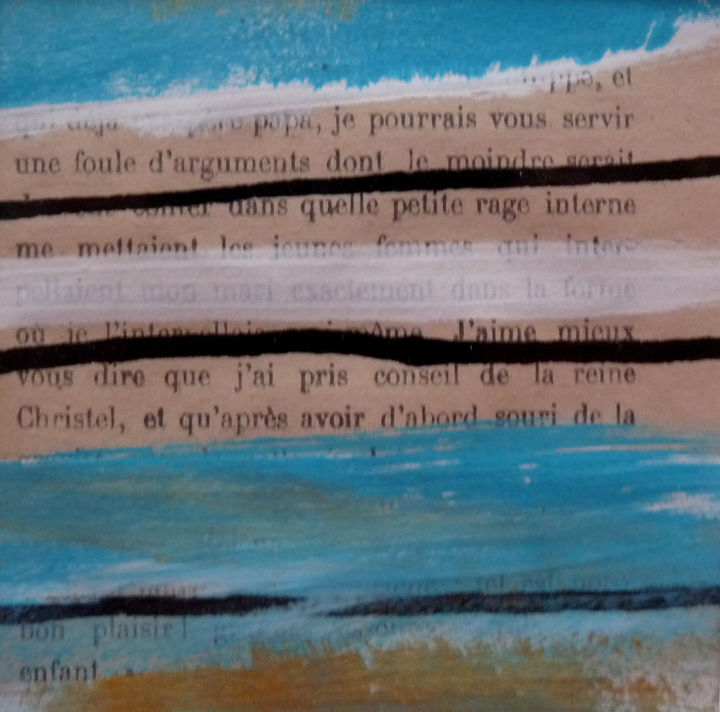 Petit format - Painting,  20x20 cm ©2014 by Chantal Malet -                                                            Abstract Art, Paper, Abstract Art, Acrylique sur papier