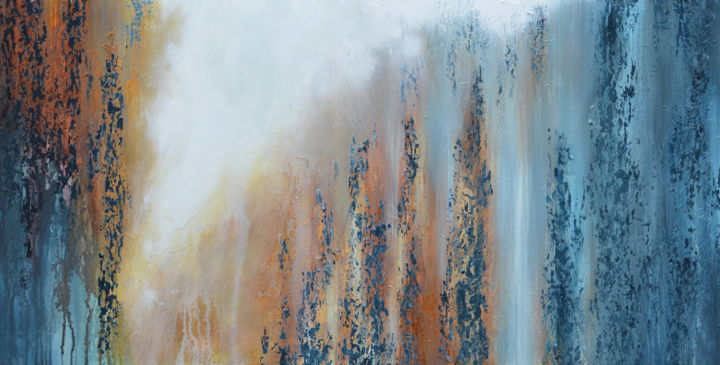 """Painting titled """"Lining in The Forest"""" by Malinga Kumarasinghe, Original Art, Acrylic Mounted on Stretcher frame"""