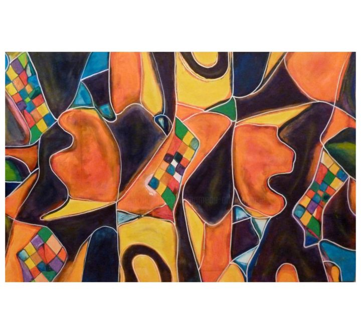 Chess 2 - acrylic on canvas - amamede´s painting - Pintura,  31,5x41,3x0,4 in, ©2014 por Amamede -                                                                                                                                                                                                                                                                                                                                                                                                                                                                                                                                          Abstract, abstract-570, chess2, amamede´s painting, xadrês2, mamede, albuquerque, lima, galeria, artmajeur, mixed media on canvas
