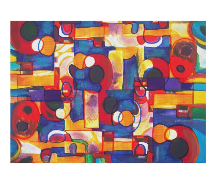 Cocus1 - amamede´s painting - Painting ©2014 by amamede -                            Abstract Art, coccus1, amamede´s painting, mamede, albuquerque, lima, galeria, artmajeur, mixed media on canvas