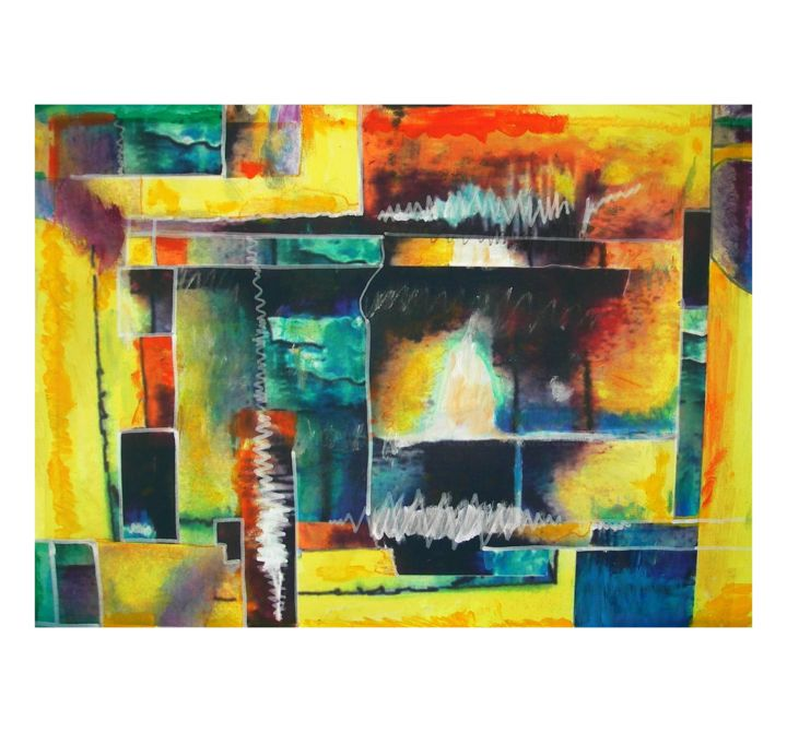 Untitled - Lithography (Limited edition signed by the artist - amamede) - Pintura,  19,7x27,6x0,4 in, ©2014 por Amamede -                                                                                                                                                                                                                                                                                                                                                                                                                                                                                              Abstract, abstract-570, Untitled, lithography, limited edition signed by the artist, amamede´s painting, mamede, albuquerque, artmajeur, litografia